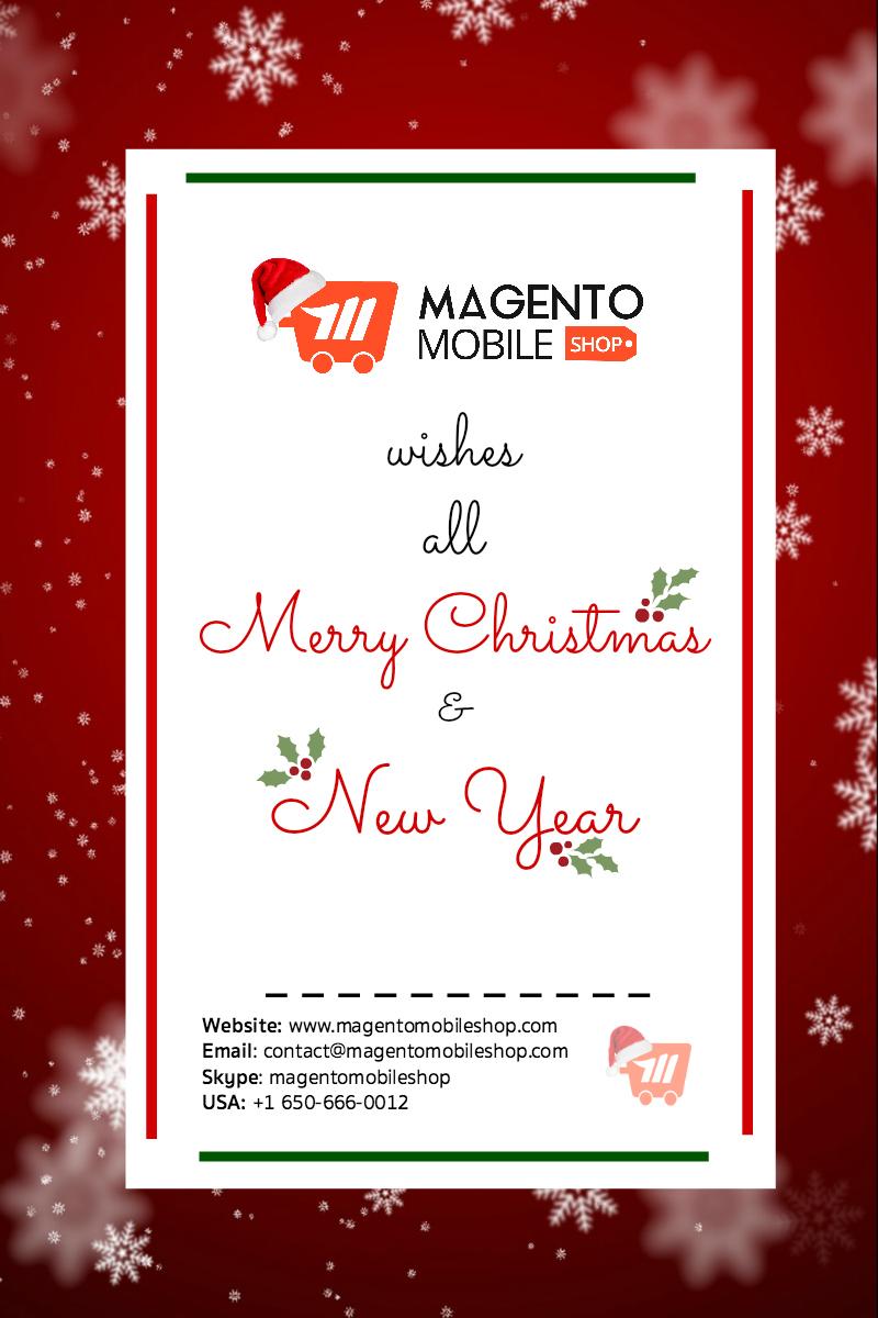 Magento Mobile App Merry Christmas