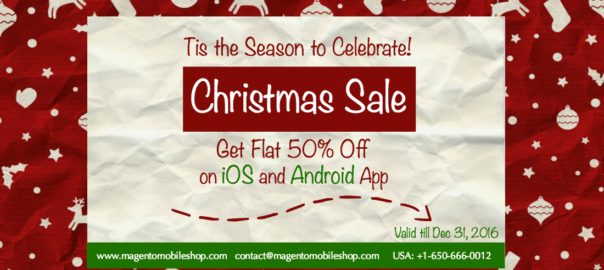 Magento Mobile App Christmas Sale