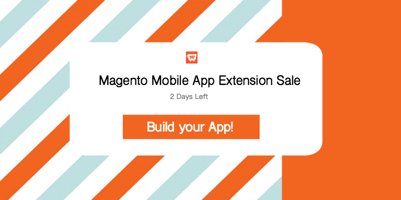 two days magento mobile app extension sale