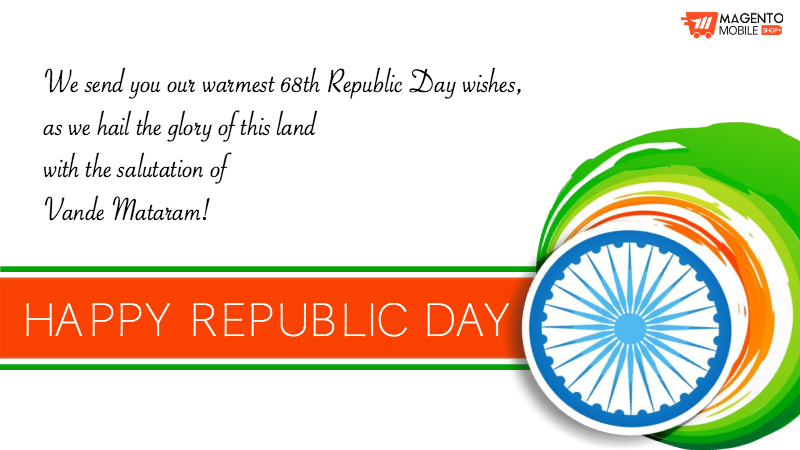 Magento Mobile App Shop Republic Day Wishes